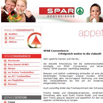 SPAR Convenience - Webseite