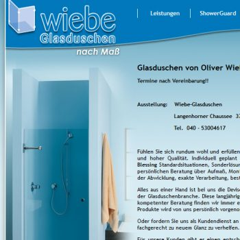 Exclusive Glasduschen - Oliver Wiebe